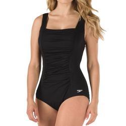Women's Speedo 7234015 Endurance+ Shirred Tank One Piece Swimsuit