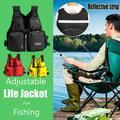 Life Jackets for Adults, Life Vest, Unisex, Floatable Vest Vest Fishing Vest with Multi-Pockets Adjustable Belt for Drifting,Surfing, Diving, Boating Buoyancy Vest