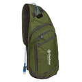 Outdoor Products Trinity 4.5 Ltr Hydration Sling with 1.5 Liter Hydration Bladder, Green, Unisex