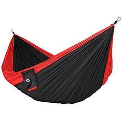 Neolite Trek Camping Hammock Lightweight Portable Nylon Parachute Hammock Black
