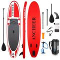 10'Inflatable Stand Up Paddle Board (6 Inches Thick) with Premium SUP Accessories & Carry Bag Wide Stance, Bottom Fin for Paddling, Surf Control, Non-Slip Deck Youth & Adult Standing Boat