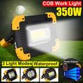 350W Portable Work Light LED Camping Light Rechargeable COB Work Light with 3 Brightness Modes Outdoor Camping Emergency Night Light Flashlight for Household Camping Hiking Outdoor