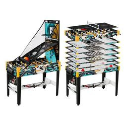 """MD Sports 48"""" 12 In 1 Combo Game Table, Pool, Air Hockey, Table Tennis, Basketball, Archery, Knock Hockey, Air Soccer, Bag Toss, Chess, Checker, Backgammon, Dice"""
