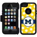 Michigan Polka Dots Design on OtterBox Defender Series Case for Apple iPhone 5/5s