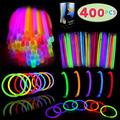 """Christmas Lights Necklace Glow Sticks Bulk 400 8"""" Glowsticks, Glow Stick Bracelets; Glow Necklaces; Glow in the Dark, July 4th, Christmas, Halloween Party Supplies Pack, Football Party Supplies"""
