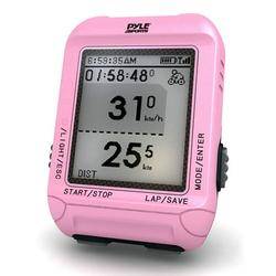 PYLE-SPORT PSBCG90PN - Smart Bicycling Computer with GPS Performance & Navigation Analysis Software and ANT+ Technology for Biking, Training, Exercise, Fitness (Pink Color)