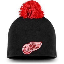 Detroit Red Wings Fanatics Branded Women's Paramount Pom Knit Beanie - Black - OSFA