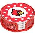 Stoneware Drink Coaster Set with Holder Included, University of Louisville