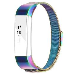 For Fitbit Alta Bands Alta HR Bands, Replacement Accessories Milanese Loop Stainless Steel Metal Bracelet Strap with Magnet Lock for Fitbit Alta HR Wristband-Colorful
