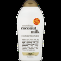 OGX Nourishing + Coconut Milk Moisturizing Conditioner for Strong & Healthy Hair, with Coconut Milk, Coconut Oil & Egg White Protein, Paraben-Free, Sulfate-Free Surfactants, 19.5 fl.oz