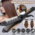 Ceramic Tourmaline Ionic Flat Iron Hair Straightener Flat Iron for Hair Professional Glider Hair Straightener Ceramic Flat Iron for All Hair Types, Wet & Dry Using, Black
