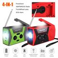 Emergency Solar Hand Crank Radio, TSV NOAA Weather Radio for Emergency with AM, FM, Self Powered Portable Radio with LED Flashlight, Reading Lamp, 2000mAh Power Bank, SOS Alarm for Outdoor Household