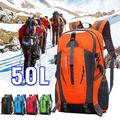 50L Large Nylon Multi-Day Travel Backpack, Waterproof Hiking Bag, for Outdoor Sports Camping Climbing Hiking Travelling, USB Port