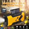 Solar Hand Crank Portable Radio NOAA Weather Radio with AM/FM, LED Flashlight, Reading Lamp, 2000mAh USB and SOS Alarm for Household and Outdoor Emergency