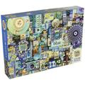 Blue Jigsaw Puzzle (1000 Piece), For ages 10 and up, proudly made in the USA. By Cobble Hill