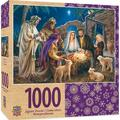 MasterPieces Holiday A Child is Born Christ in Manger 1000 Pieces Jigsaw Puzzle