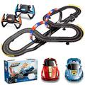 Dual Player 1:43 Scale Slot Racing Car Track Toy Set, Kids Toys High Speed Racing System Loops, Race Stunt Car Games for Family Home Fun Kid Gift