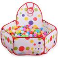 TrendBox 200 Ocean Balls + 1.5M Collapsible Ocean Ball Basketball Tent Play Pit House Foldable For Baby Children Kids Creativity (Ship From USA)