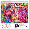 Cardinal Games EZ Grasp 300-Piece Jigsaw Puzzle, for Adults and Kids Ages 8 and up, Pink Elephant