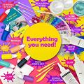 Original Stationery DIY Slime Kit for Girls Boys Ultimate Slime Making Kit with Add Ins Supplies for Alien Egg Slime, Crystal, Glitter, Unicorn and More - Fun Slime Kits for Kids (Yellow, 44pcs)