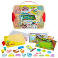 Play-Doh Shape & Learn Discover & Store Set with 6 Cans & Over 20 Tools