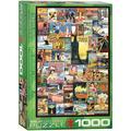Travel Around the World 1000-Piece Puzzle