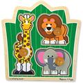Melissa & Doug Jungle Friends Safari Animals Jumbo Knob Wooden Puzzle