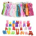 40 Item/Doll Accessories 20 Pcs Doll Clothes+Random 20 Pairs Doll Shoes for Barbie Doll Accessories