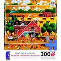 """roger nannini home sweet home """"moo milk farm"""" puzzle 300 oversized pieces"""