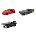 Fast & Furious 7 (pack 1) Diecast Car Package - Three 1/24 Scale Fast & Furious 7 (pack 1) Diecast Model Cars