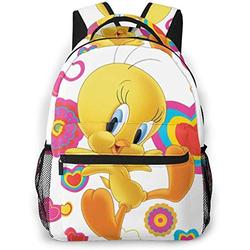 Mini Backpack For Women Tweety Bird Casual Style Lightweight Canvas Children School Bag