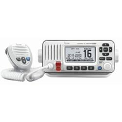 """""""10"""""""" Super White M424G Fixed Mount VHF Marine Transceiver with Built-In GPS"""""""