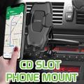 Cellet Car Phone Mount, CD Slot Car Phone Holder Universal Car Cradle Mount with Three-Side Grips and One-Touch Design for Motorola Z3 Play, Moto G6, X4, Z2 Force, Z2 Play, Z Droid and More
