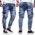 Mens Fashion Skinny Jeans Denim Pant With Pockets Cargo Combat Denim Jeans Pants Slim Fit Motorcycle Jeans Biker Jogger Jeans