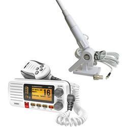 """Uniden UM415 Oceanus D Marine Radio and Tram 1607-HC 46"""" VHF Marine Antenna, White"""