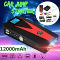 12000mAh 12V LCD Dual USB Car Jump Starter Pack Booster Charger Battery Power Bank