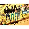Band Music Rock Punk Ramones Art Goth Artist-12 Inch BY 18 Inch Laminated Poster With Bright Colors And Vivid Imagery-Fits Perfectly In Many Attractive Frames
