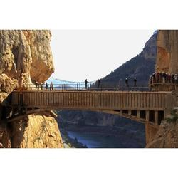 Bridge Adventure Active Turism Caminito Del Rey-12 Inch BY 18 Inch Laminated Poster With Bright Colors And Vivid Imagery-Fits Perfectly In Many Attractive Frames