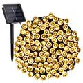 Solar Christmas Lights, 72ft 200 LED 8 Modes Solar String Lights, Waterproof Solar Fairy Lights for Garden, Patio, Home, Holiday, Party, Outdoor Christmas Decorations (Warm White)