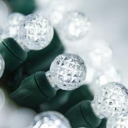 70 G12 Ball Lights Cool White String Lights, 24 ft LED Globe Christmas Lights Cool White Lights String Globe String Lights White LED String Lights