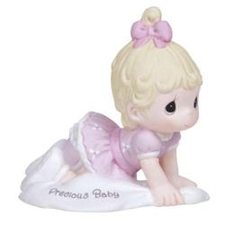 Precious Moments Growing in Grace Precious Baby Blonde Girl Figurine
