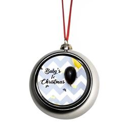 Babys First Christmas Xmas Ornament New Baby First Year Ornament - Baby 1st Xmas Ornament - Baby 1st Christmas Ornament Christmas Décor Silver Ball Ornaments