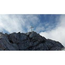Summit Cross Weather Stone Alpspitze Alpine Summit-20 Inch By 30 Inch Laminated Poster With Bright Colors And Vivid Imagery-Fits Perfectly In Many Attractive Frames