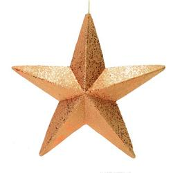 "23"" Rose Gold Glitter Star Outdoor"