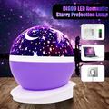 Night Light Projector , LED Starry Moon 360 Degree Rotating Cosmos Romantic Room Star Projector , Starry Moon Sky Night Projector Kid