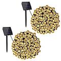 Solar Christmas Lights, 2 Packs 72ft 200 LED 8 Modes Solar String Lights, Waterproof Solar Fairy Lights for Xmas Tree, Garden, Patio, Wedding, Party, Christmas Decorations (Warm White)