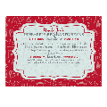 Personalized Your Family Recipe Glass Cutting Board-7-Red