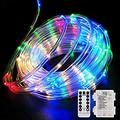 40FT 120 LED Rope Lights,Battery Operated String Lights 8 Modes Fairy Lights with Remote Timer,Outdoor Decoration Lighting for Garden Patio Party,Weddings,Christmas Décor (Multi-Color)