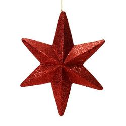 "20"" Burgundy Glit Bethlehem Star Outdoor"