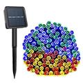 Solar String Lights 72 Ft 22 Meter 200 LED Solar Powered Fairy Christmas Lights for Outdoor Gardens Homes Wedding Party Lawn Patio Xmas Tree Waterproof (Multi Color)